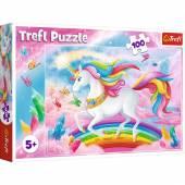 Puzzle Trefl 100  el. W kryształowym świecie jednorożców