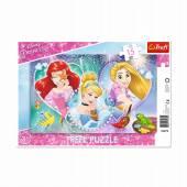 Trefl Puzzle ramkowe 15 el. księżniczki