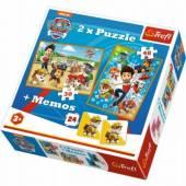 Gra memory i puzzle Trefl Psi Patrol 2w1 90790