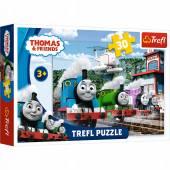 Puzzle Trefl Tomek i Przyjaciele Wyścig na torach 30el.