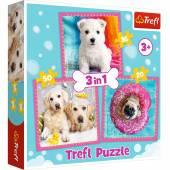 Puzzle Trefl Pieski w kąpieli 3w1