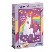 CLEMENTONI puzzle 500 Fantastyczne zwierz.Unicorn 35066