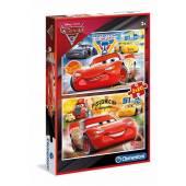 CLEMENTONI puzzle Disney Auta 3 2x20 el. 07027