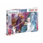 CLEMENTONI puzzle 104 z brokatem Frozen2 20163