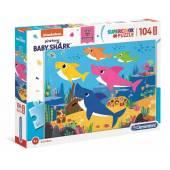 CLEMENTONI puzzle 104 maxi SuperKolor Baby Shark 2375
