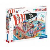 CLEMENTONI puzzle 24 maxi SuperKolor Pirates 24209