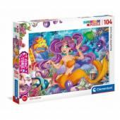 Clementoni puzzle 104 el z ozdobami Beautiful Mermaid