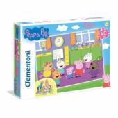CLEMENTONI puzzle 40 Podłog.SuperKolor PeppaPig 25458