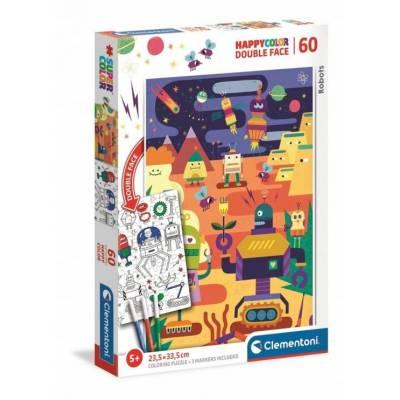 CLEMENTONI puzzle 60 Happycolor Robots 26061