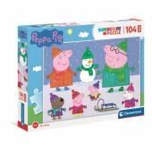 CLEMENTONI puzzle 104 maxi SuperKolor Peppa Pig 23752