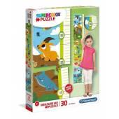 CLEMENTONI puzzle 30 miarka wzrostu Animals 20329