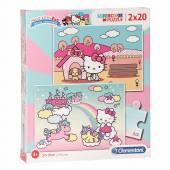CLEMENTONI puzzle 2x20 Super Kolor Hello Kitty 24765