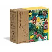 CLEMENTONI puzzle ZnajdŸ to-jesień eko 50174