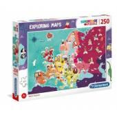 CLEMENTONI puzzle 250 Wielcy ludzie w Europie 29061