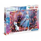 CLEMENTONI puzzle 104 Brilliant Frozen 2 20161.
