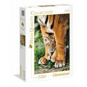 CLEMENTONI puzzle 500 el Bengal Tiger Tygrys