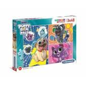 CLEMENTONI puzzle 3x48 Puppy Dog Pals 25247.