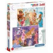 CLEMENTONI puzzle 2x60 Super Olympian Gods 21612