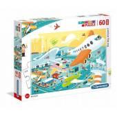 CLEMENTONI puzzle 60 maxi Duże lotnisko 26447