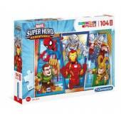 CLEMENTONI puzzle 104 maxi Superhero super kolor 2374