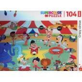 CLEMENTONI puzzle 104 maxi Szalony cyrk super kolor 2
