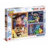 CLEENTONI puzzle 3X48 Toy Story4 super kolor 25242
