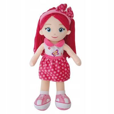 Lalka szmacianka 40cm różowe włosy mówi i śpiewa