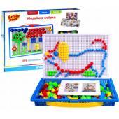 Układanka Guziczki Mozaika z walizką Smily Play