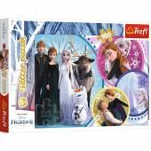 TREFL PUZZLE 100 el. Glitter W blasku miłości /Frozen2 14817
