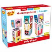 Smily Play Klocki magnetetyczne 12 zawodów SP83465