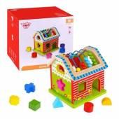 Tooky Toy Drewniany Domek sorter
