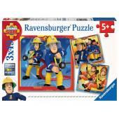 Ravensburger Puzzle FS: Strażak Sam 3x49