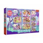 TREFL PUZZLE 10w1, 329el.  Przygody Enchantimals/Mattel 90354