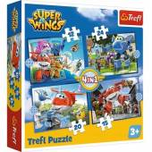 TREFL PUZZLE 4w1, 207el.  Odlotowa paczka /Super Wings 34351