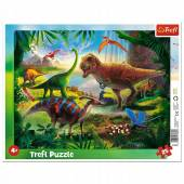 TREFL PUZZLE Ramkowe 25el.  Dinozaury 31343