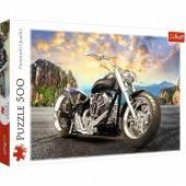 TREFL PUZZLE 500el. Czarny motocykl 37384