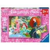 Ravensburger Puzzle Disney Princess W Świecie Księżniczek 2 x 12 el. 076208