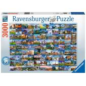 Ravensburger Puzzle 99 Widoków Europy 3000 el.