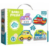 TREFL PUZZLE BABY CLASSIC 18el. Pojazdy-transport/T.Baby 36075
