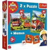 TREFL PUZZLE 2w1+memos, 78 el. Strażacy w akcji /Straż.Sam 90791