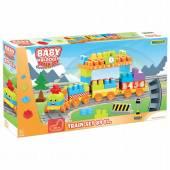 WADER BabyBlocks kolejka z klockami 3,35m 89el 1+ 41480