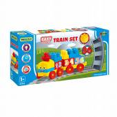 Pociąg Kolejka z kolckami 1,45m Baby Blocks WADER 41461