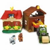 Farma Domek rolnika i traktor z przyczepą 3818000