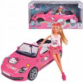 Simba Hello Kitty Lalka Steffi w Kabriolecie 9283023