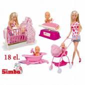 Steffi lalka mama z dzieckiem 18 akcesoriów 573-0861