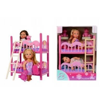 Dwie lalki Evi w piętrowym łóżeczku 573-3847