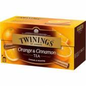 Twinings Orange & Cinnamon Herbata 25szt 50g