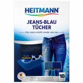 Heitmann Jeans-Blau Tucher Chusteczki 10szt