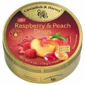 C&H Raspberry & Peach Drops 175g