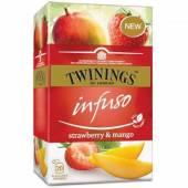 Twinings Infuso Strawberry Mango Herbata 20szt 30g